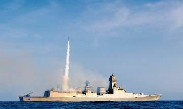 INS Kochi successfully test fires medium range surface to air missile