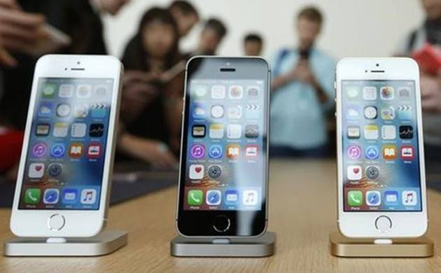 iPhone SE are displayed at a showroom in China. (File Photo)