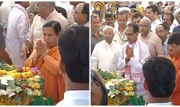 Mortal remains of Union Minister Anil Dave consigned to flames: Shivraj Singh, Uma Bharti pay respects