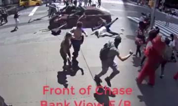 Times Square car crash: CCTV footage captures New York City horror