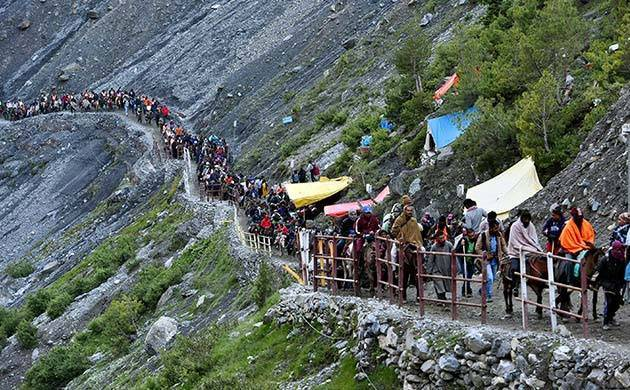 The MHA issued a statement on Tuesday indicating a possibility of stone-pelting incidents during the Amarnath Yatra. (File Photo)