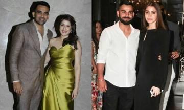 Zaheer Khan-Sagarika Ghatge engagement: Virat Kohli-Anushka Sharma arrives hand-in-hand, steals the show (See Pics)