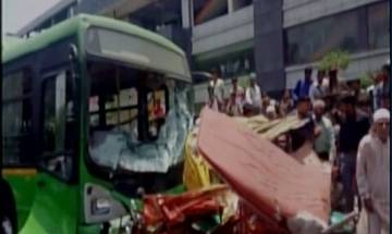 Delhi: Two killed, 5 injured as DTC bus crashes into auto, e-rickshaw in Azadpur