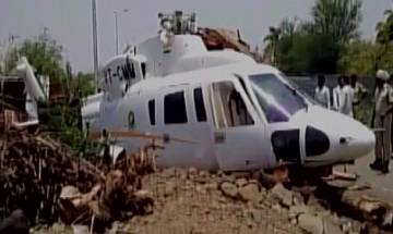Chopper carrying Maharashtra CM Devendra Fadnavis crash lands after touching high-tension cable, all on board safe | Video