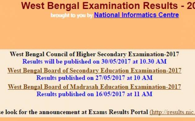 West Bengal Higher Secondary results 2017