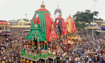 Ceremoinial bathing 'Snana Jatra' of Lord Jagannath celebrated in Puri amid high security