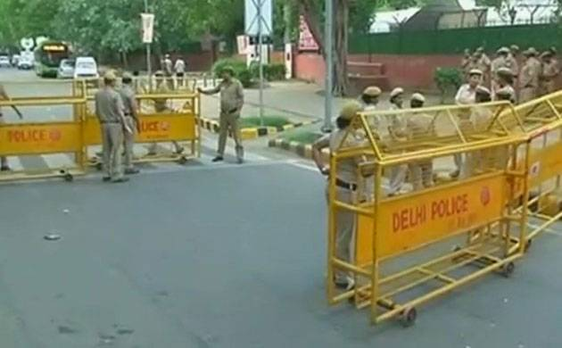 Security at Kerala House in New Delhi (Image: ANI)