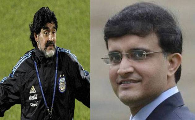 Diego Maradona 'excited' to meet Bengal tiger Sourav Ganguly (Source: PTI)