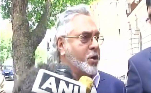 Vijay Mallya talking to reporters outside London's Westminster Court on Tuesday (Image: ANI Twitter)