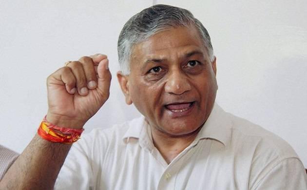 V K Singh demands apology for Sandeep Dikshit's comment on Rawat