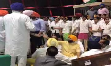 Punjab assembly: Agitating Akali-BJP MLAs take seat after CM's warning; AAP MLA suspended for shooting video