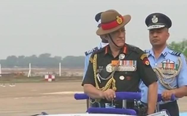 General Bipin Rawat inspects guard of honour at the passing out parade (Image: ANI)