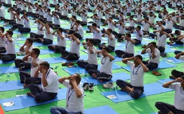 International Yoga Day: 11th hour preparations underway,Yogi Adityanath monitors arrangements (Source: PTI)