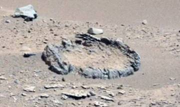 Did aliens arranged that rock circle on Mars? NASA's Curiosity rover captures image showing strange formation