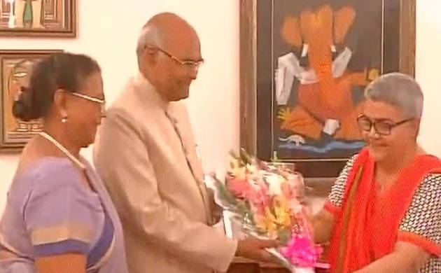 Presidential election 2017: NDA nominee Kovind meets Vajpayee and his family (ANI Image)