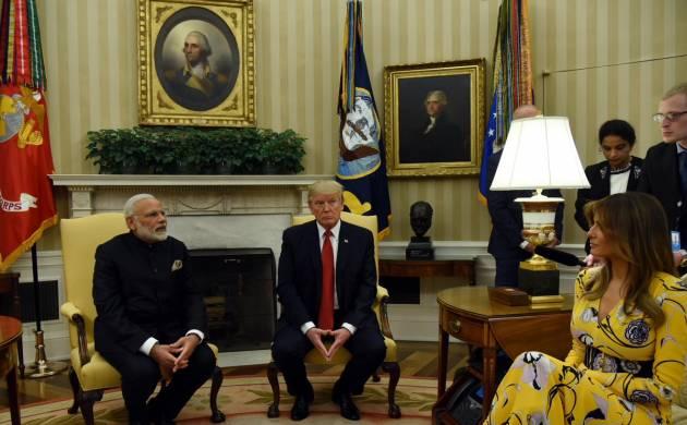 PM Modi, President Trump skip discussion on contentious H-1B visa issue (Image; twitter/@narendramodi)