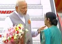PM Modi returns to India after successful tour of US, Portugal and Netherlands, Sushma Swaraj receives him at Delhi airport