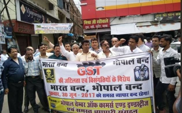 GST rollout Live: Traders in Rajasthan, Madhya Pradesh, Uttar Pradesh call for shutdown; Naidu appeals for reconsideration (ANI Image)