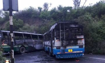 Himachal Pradesh: 60 people injured as two buses collide in Damtal, catch fire