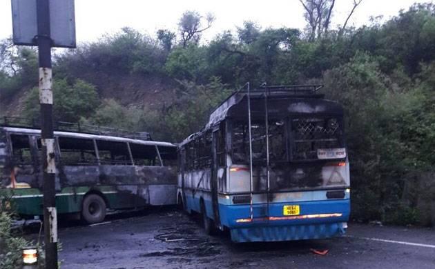 Buses collide in Damtal, Himachal Pradesh (Pic credit)
