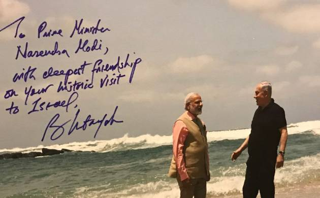 PM Modi and PM Netanyahu's bromance on Olga Beach gives Twitter a field day  (Image: @narendramodi)