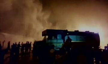 West Bengal: Fire breaks out in five oil tankers at IOCL depot in Siliguri; 10 fire tenders at spot
