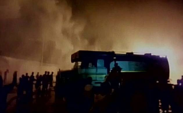 WB: Fire breaks out in five oil tankers at IOCL depot in Siliguri (Image: ANI)