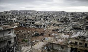 UK based monitor says 331,765 people died in the Syrian conflict , including 99,617 civilians