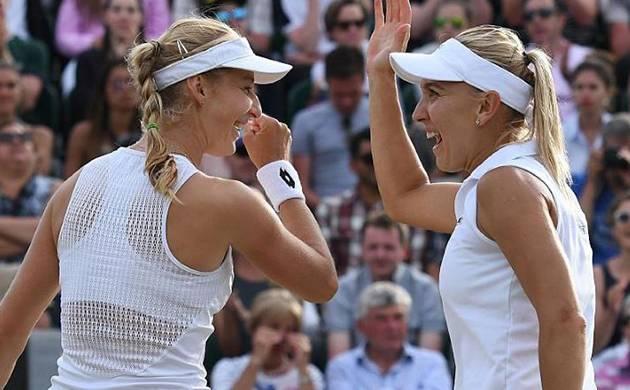 Ekaterina Makarova and Elena Vesnina of Russia (file photo)