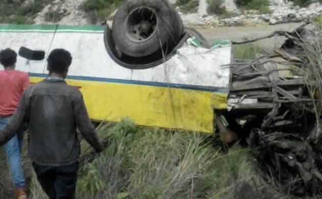 Himachal Pradesh: Bus falls into gorge in Shimla's Rampur; 20 dead (Image: ANI)