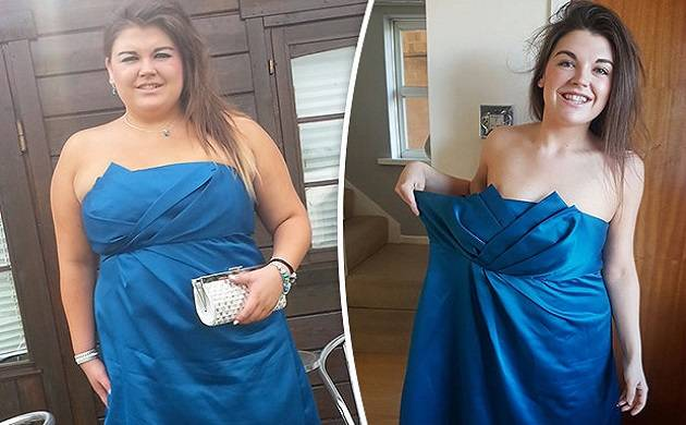 Fitness blogger Chloe Longstaff before and after