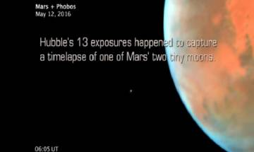 Martian moon Phobos orbits Mars, NASA Hubble beautifully captures time-lapse of red planet