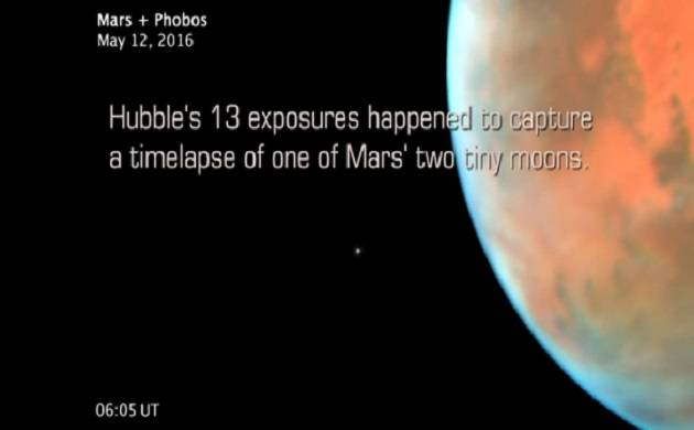 Watch video: NASA Hubble shoots Martian moon Phobos orbiting red planet