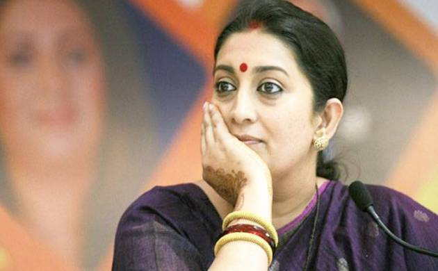 A file photo of Union Minister Smriti Irani.