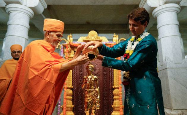 PM Justin Trudeau joins BAPS Mandir's 10th anniversary celebrations (Source: ANI)