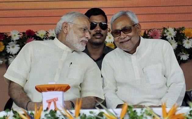 Indian Prime Minister Narendra Modi and JD (U) chief Nitish Kumar