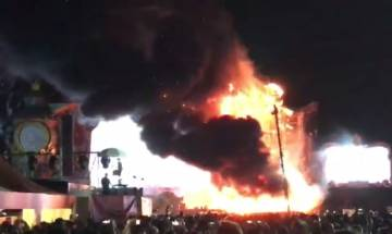 Tomorrowland Unite festival, Barcelona: Fire engulfs stage, 22,000 people escape unhurt | Video