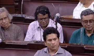 Tendulkar attends Rajya Sabha after SP MP raised question on his attendance