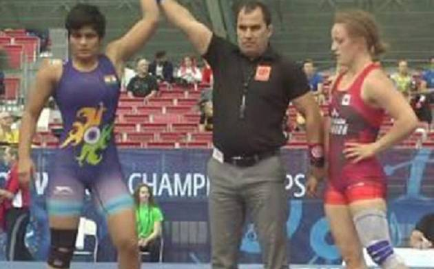 Manju clinched a bronze at the Junior World Wrestling Championship