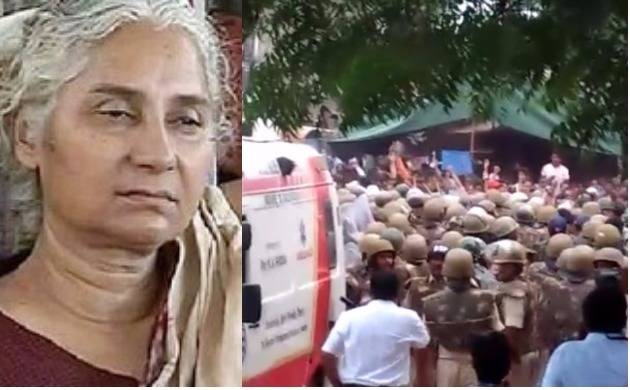 Narmada Bachao Andolan | MedhaPatkar critical after 12 days' hunger strike, MP police crackdowns on protesters (Newsnation Images)