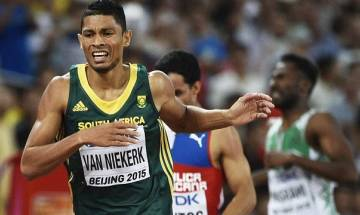 IAAF World Championships: Wayde van Niekerk clinches gold in 400m post rival Isaac Makwala's pull out on medical grounds
