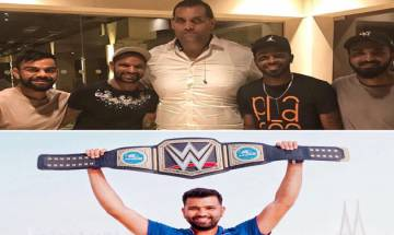 Rohit Sharma trolls Virat Kohli and teammates after they meet 'The Great Khali'