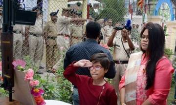 Slain CRPF officer's wife, daughter unfurl tricolour at site where he was killed last year