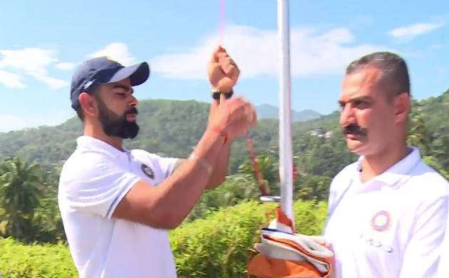 Virat Kohli hoists national flag on Independence Day