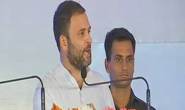 Rahul says BJP forced to implement farm loan waiver due to pressure from Congress