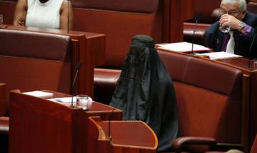 Australian senator wears burqa in Parliament to demand ban on covering garments