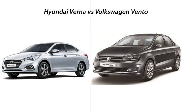 Hyundai verna versus Volkswagen Vento.
