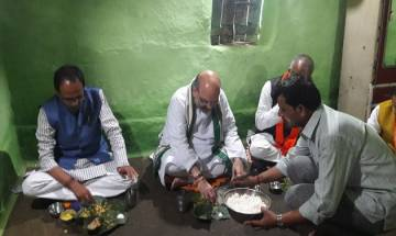 No toilet at house of BJP tribal worker where Shah and MP chief minister had lunch, claims Congress