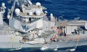 US Warship collides with merchant ship east of Singapore, 10 sailors missing, says US Navy