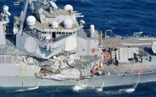 Warship collides with merchant ship,10 sailors missing, says US Navy (Image: Agency)